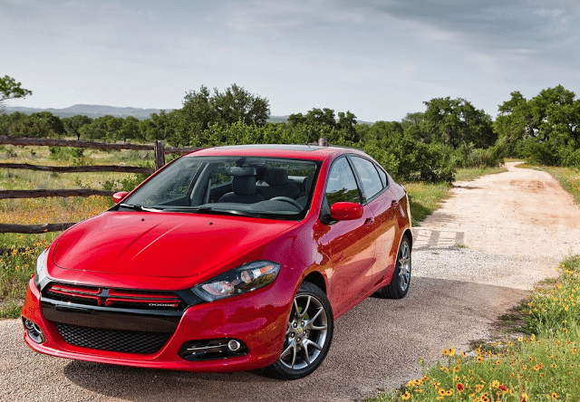 2015 Dodge Dart red