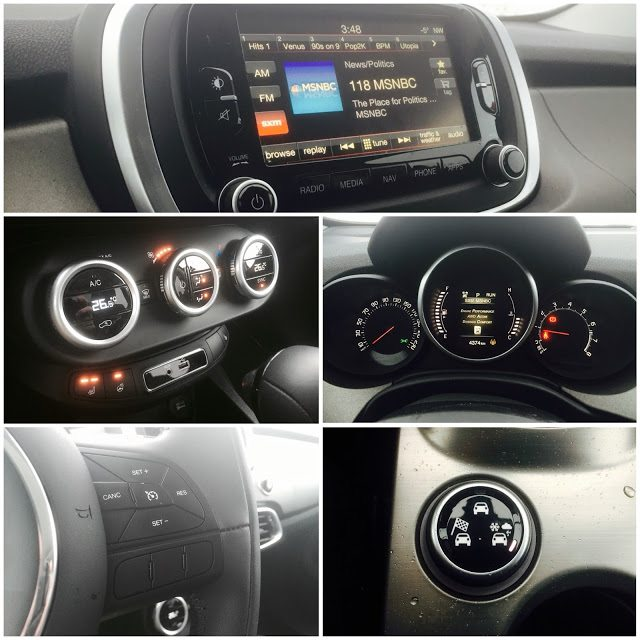 2016 Fiat 500X Trekking interior collage
