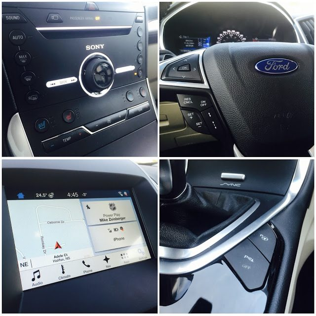 2016 Ford Edge Titanium interior details