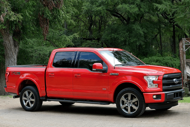 2015 Ford F-150 red SuperCrew