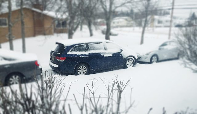 2015 Honda Odyssey winter storm