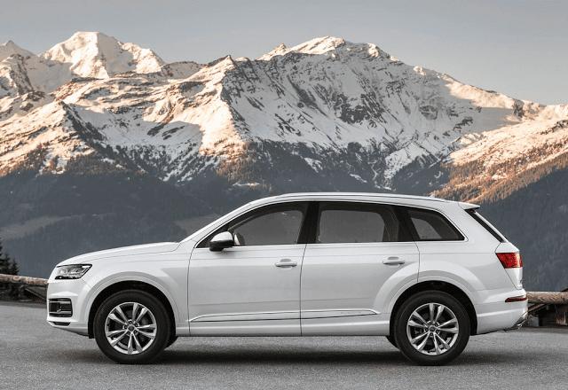 2016 Audi Q7 white mountains