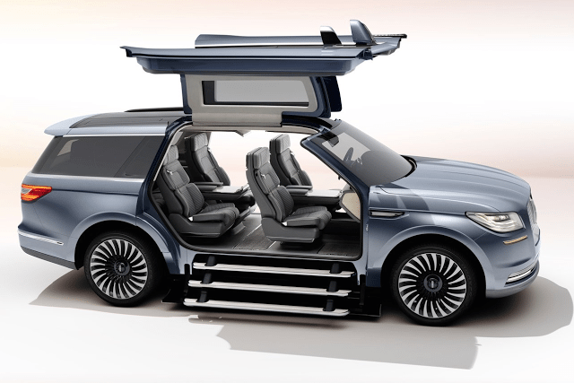 2016 Lincoln Navigator New York auto show concept gullwing doors