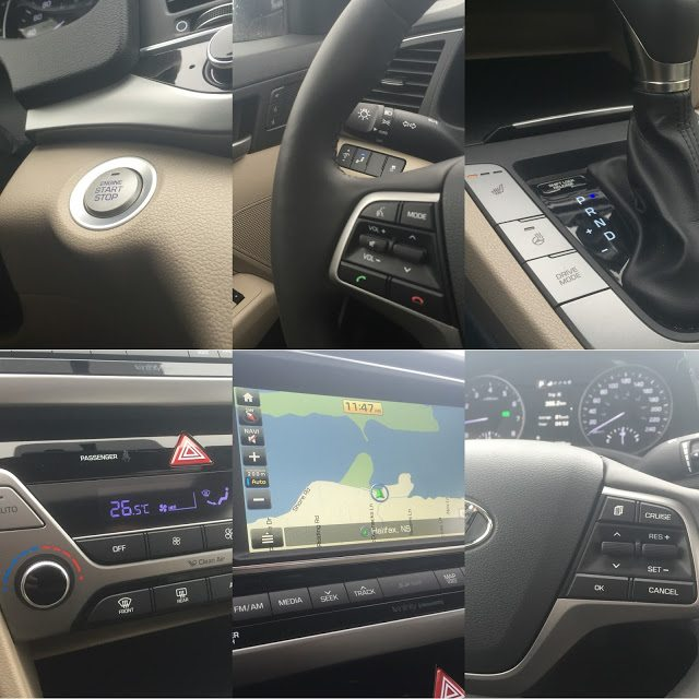 2017 Hyundai Elantra Limited interior collage