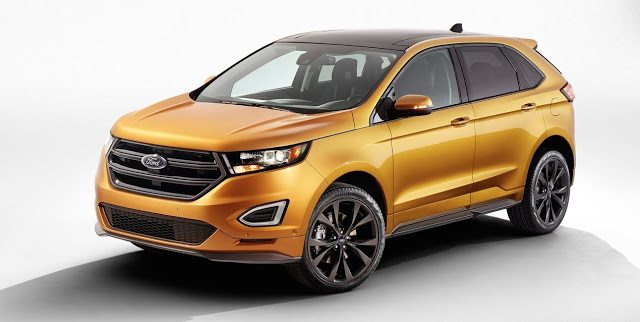 2016 Ford Edge yellow