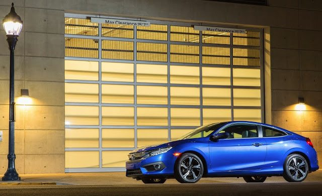 2016 Honda Civic Coupe blue