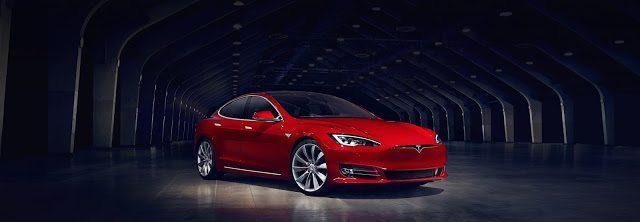2016 Tesla Model S facelift red