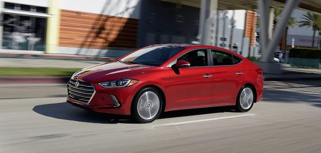 2017 Hyundai Elantra Limited red