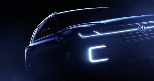 2016 Volkswagen Touareg Concept teaser Beijing (Source: Volkswagen)