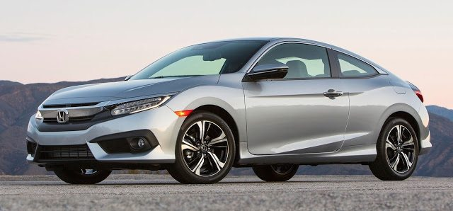 2016 Honda Civic coupe silver