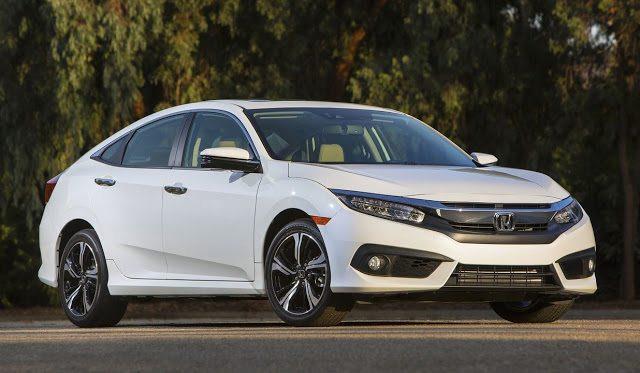 2016 Honda Civic sedan white