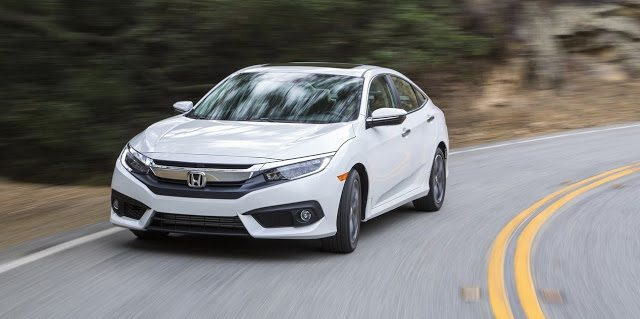 2016 Honda Civic sedan white
