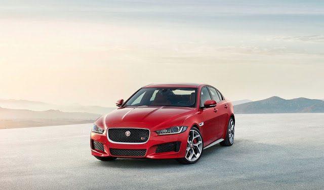2016 Jaguar XE S red sedan