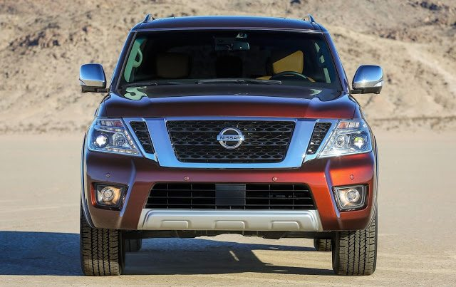 2017 Nissan Armada front grille