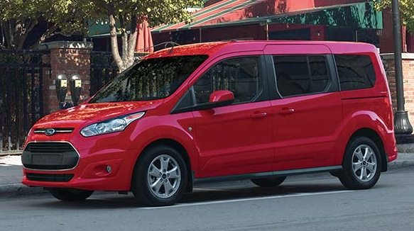 2016 Ford Transit Connect wagon red
