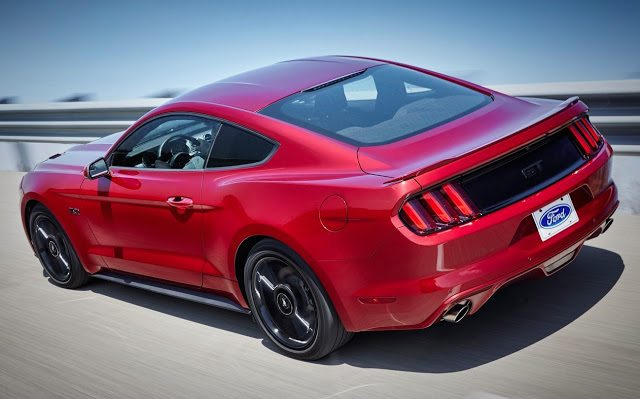 2016 Ford Mustang GT red rear