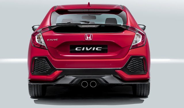 2017 Honda Civic Hatchback red