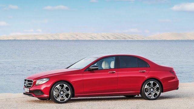 2017 Mercedes-Benz E-Class sedan red