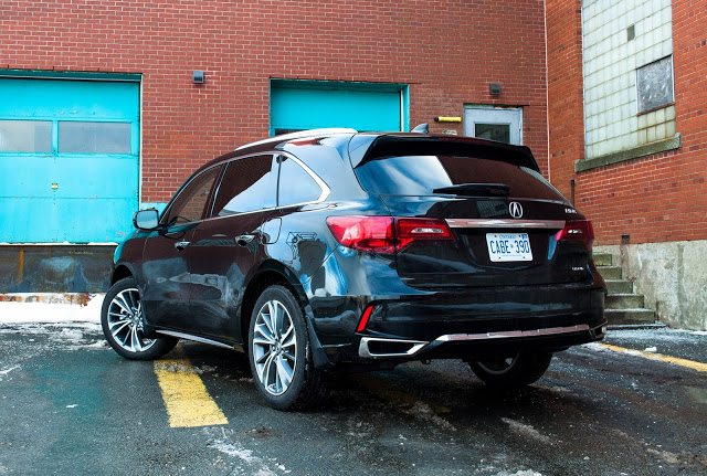 2017 Acura MDX black rear