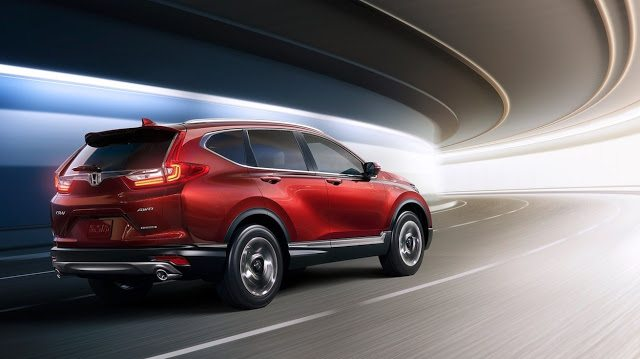 2017 Honda CR-V red rear
