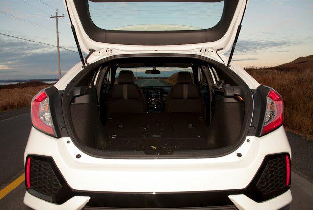 2017 Honda Civic hatchback cargo area