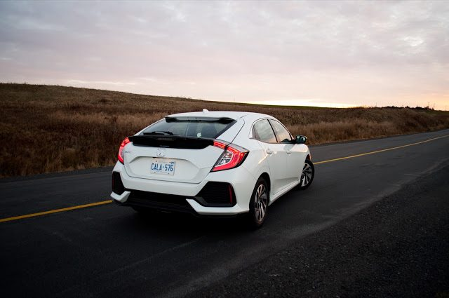 2017 Honda Civic Hatchback Lx White Rear