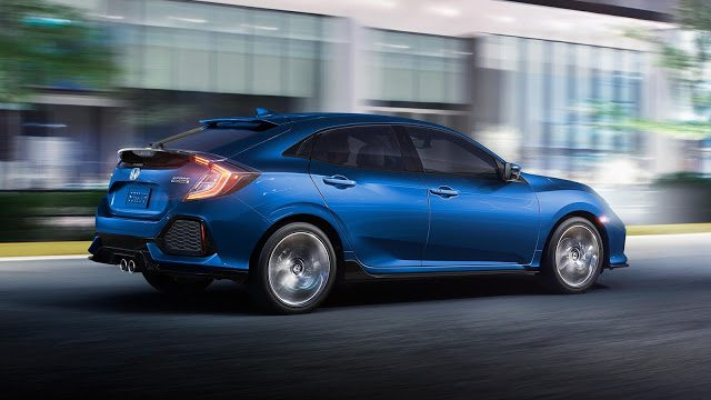 2017 Honda Civic hatchback blue