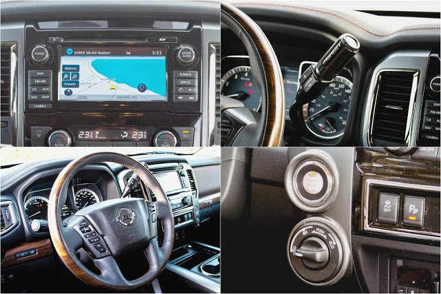 2017 Nissan titan Platinum Reserve interior detail