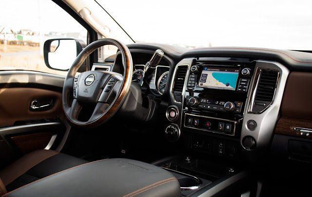2017 Nissan titan Platinum Reserve interior