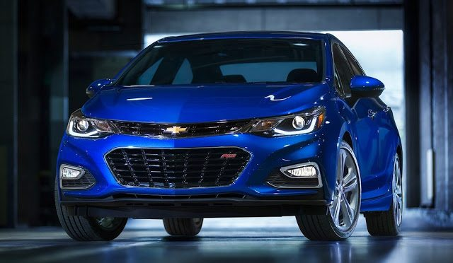2017 Chevrolet Cruze RS blue