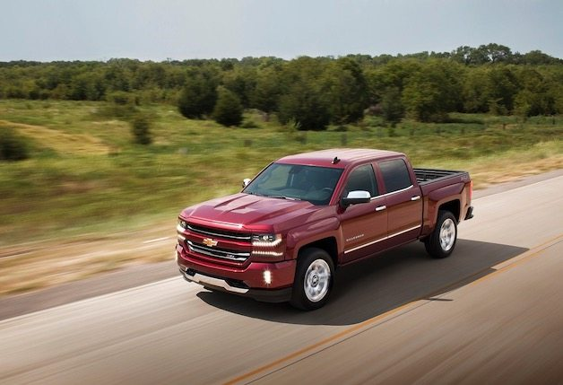 2017 Chevrolet Silverado red