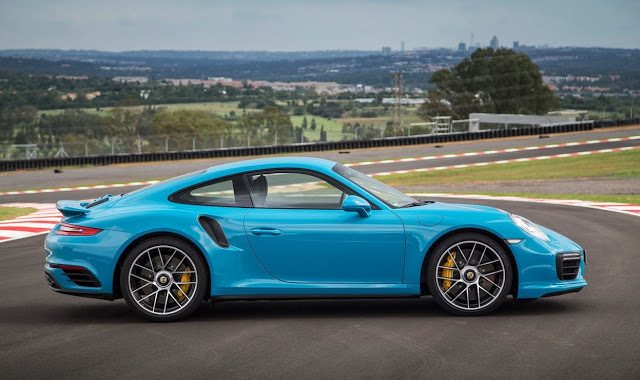 2017 Porsche 911 Turbo S blue