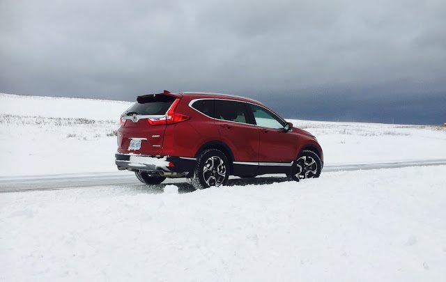 2017 Hona CR-V Touring red rear