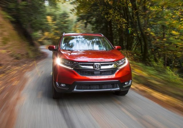 2017 Honda CR-V red front