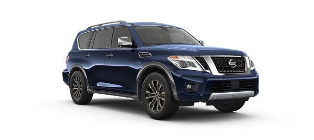 2017 Nissan Armada Platinum blue