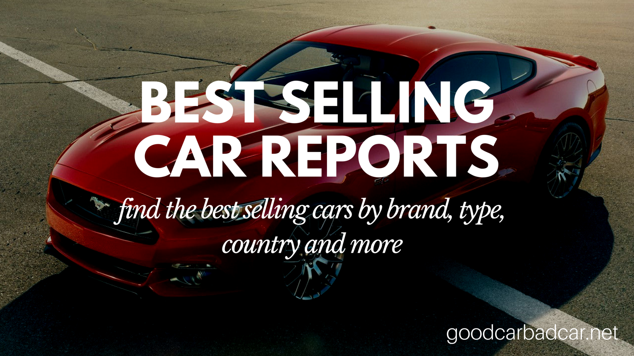 best selling cars reports