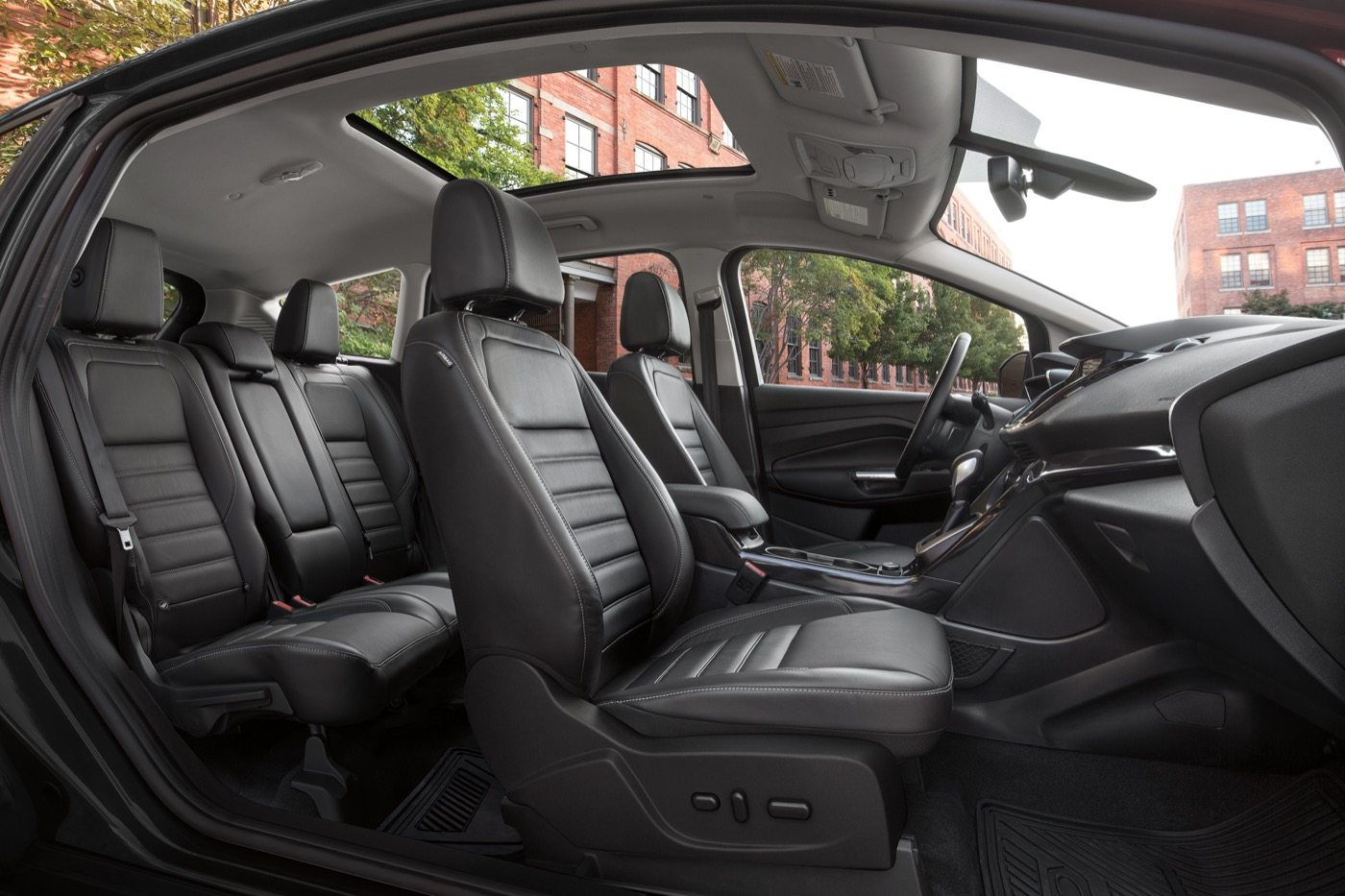 2017 C-MAX Energi Titanium interior - Image: Ford