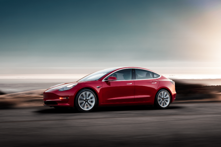 Tesla Model 3 - image courtesy Tesla Press Kit