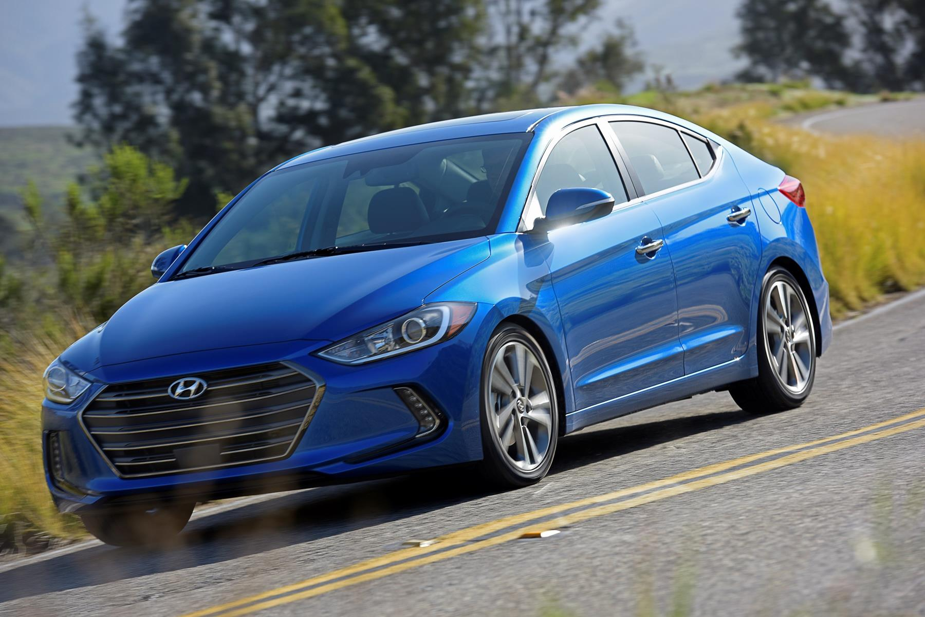 Hyundai Elantra, one of Hyundai's top selling vehicles in calendar year 2017