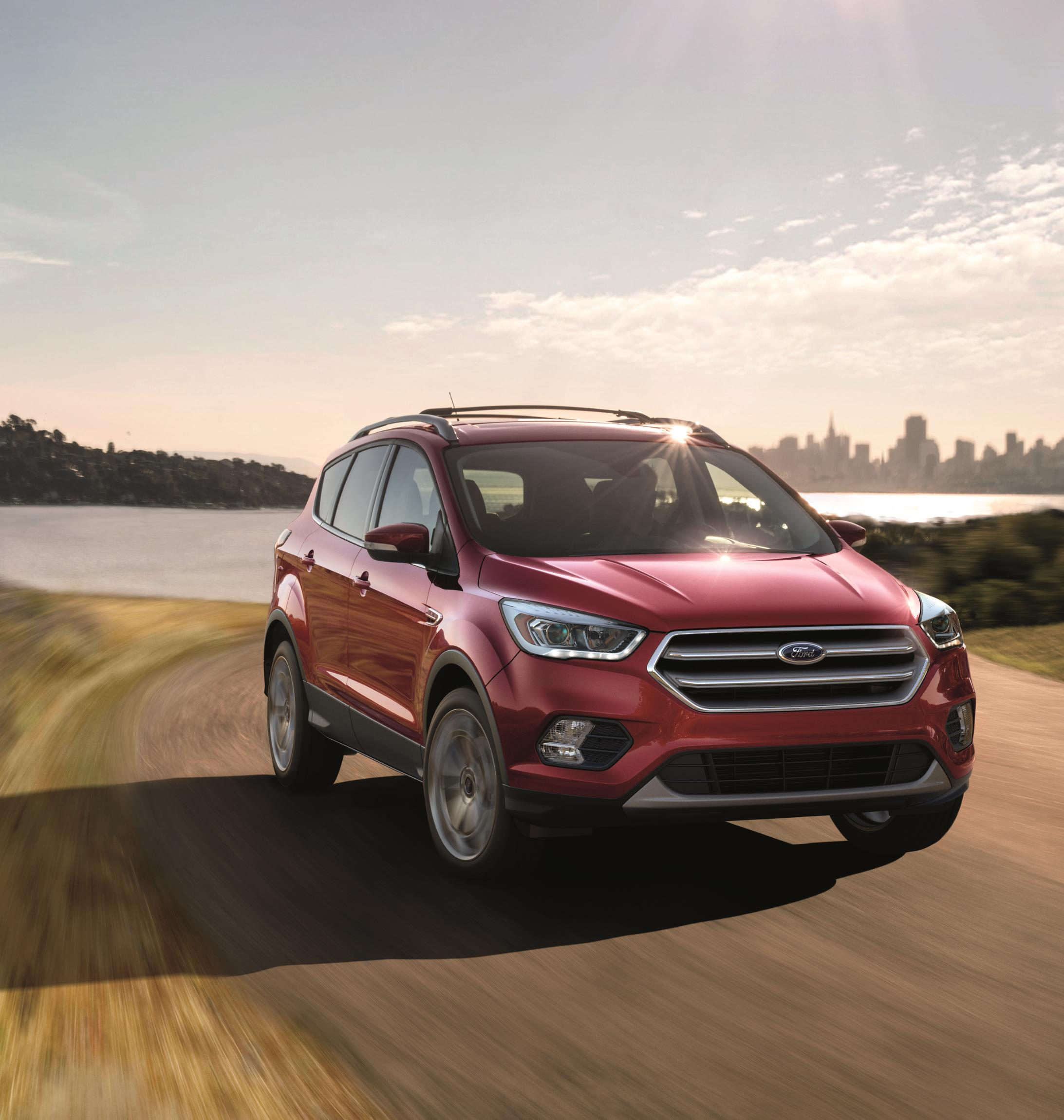 The Ford Escape, one of Ford's top selling vehicles in 2017