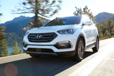 Hyundai Santa Fe, one of Hyundai's top selling vehicles in calendar year 2017