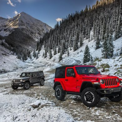 Jeep Wrangler, one of Jeep's top selling vehicles in calendar year 2017