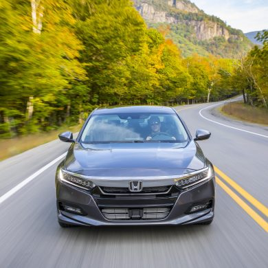 Honda Accord, one of Honda's top selling vehicles in calendar year 2017