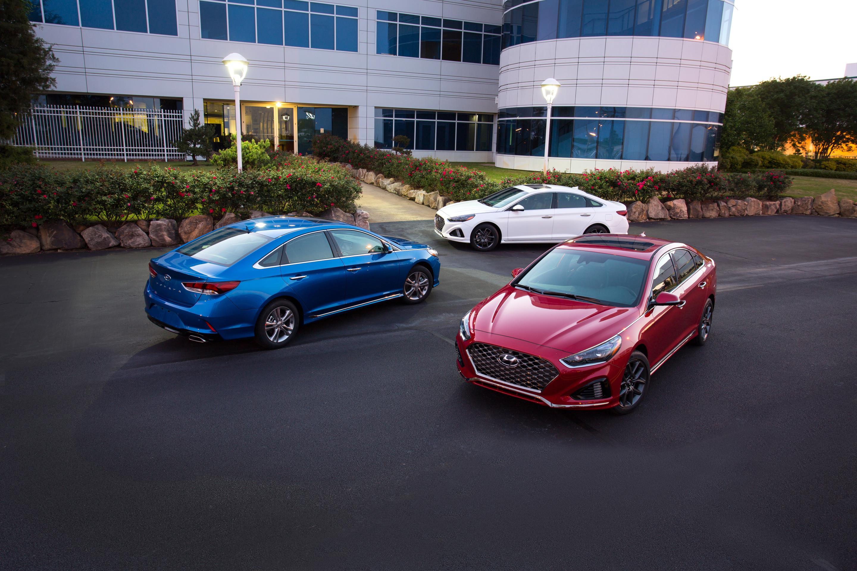Hyundai Sonata, one of Hyundai's top selling vehicles in calendar year 2017