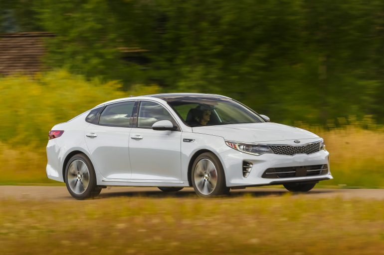 Kia Optima, one of Kia's top selling vehicles in calendar year 2017