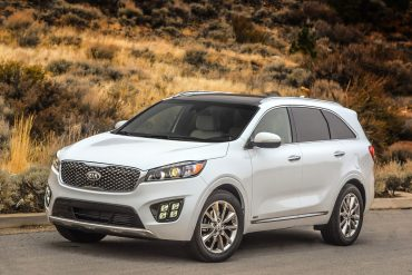 Kia Sorento, one of Kia's top selling vehicles in calendar year 2017