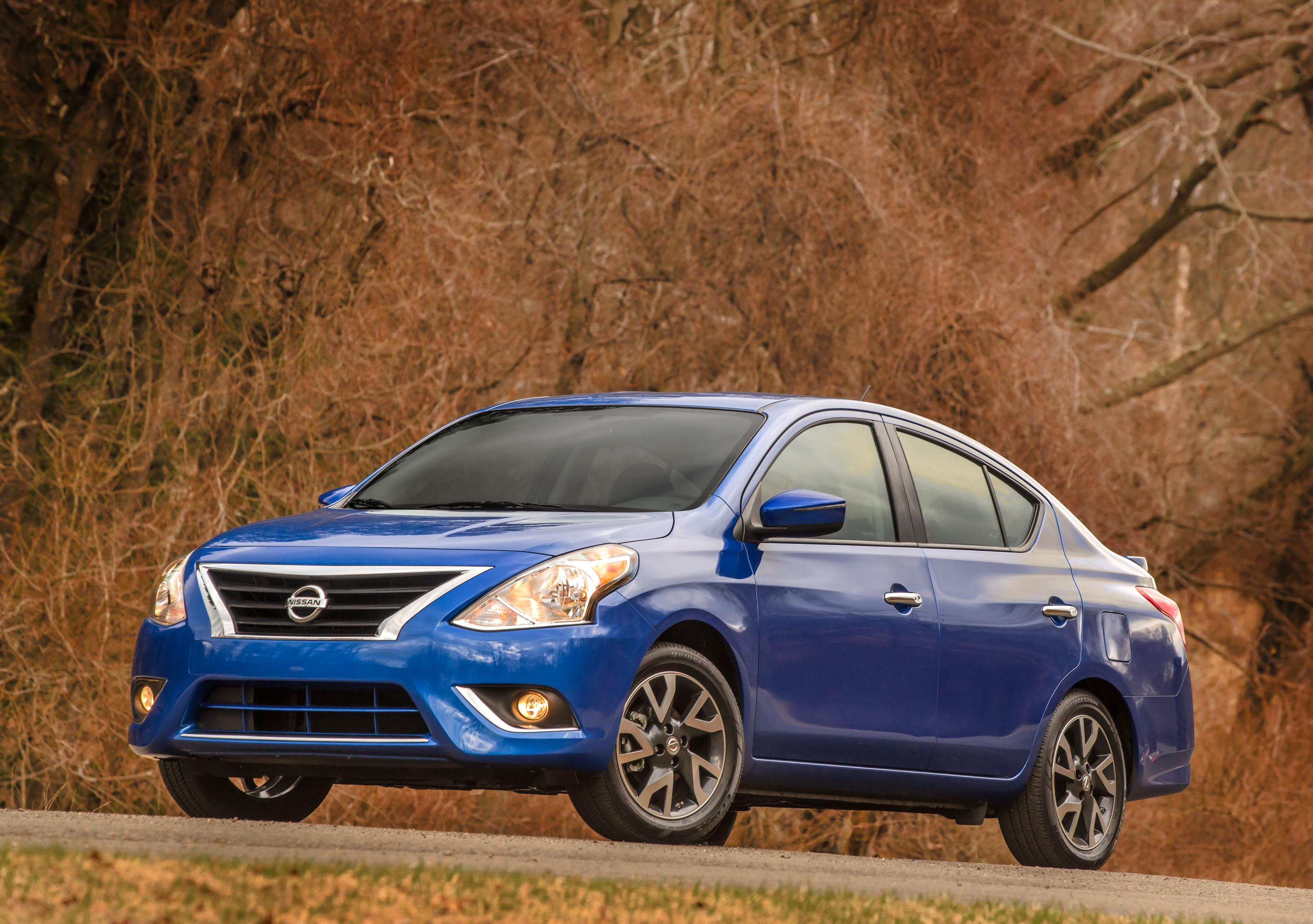 Nissan Versa, one of Nissan's top selling vehicles in calendar year 2017