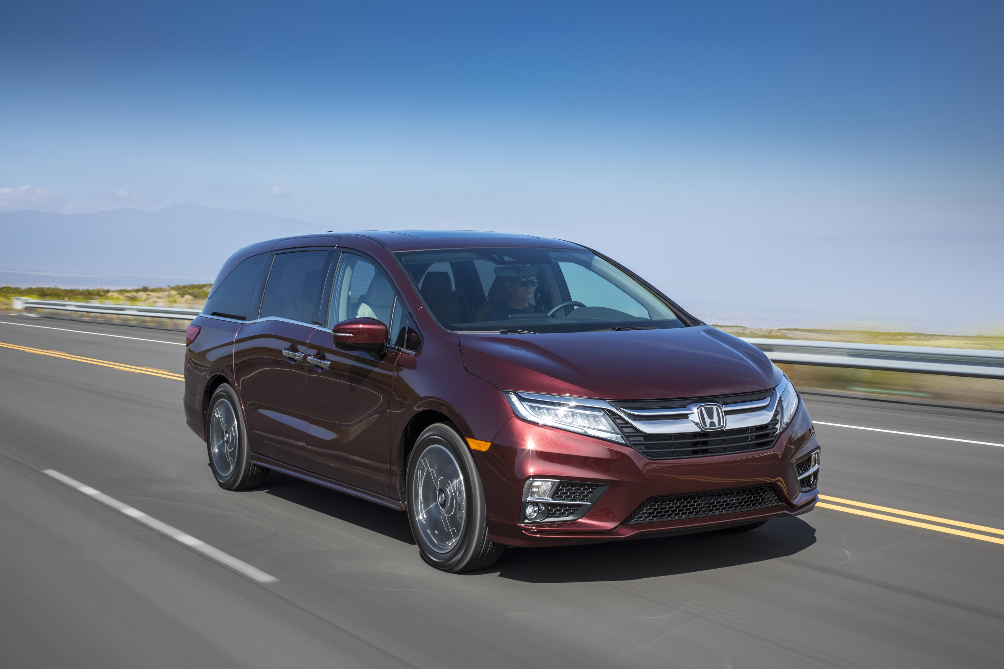 Honda Odyssey, one of Honda's top selling vehicles in calendar year 2017