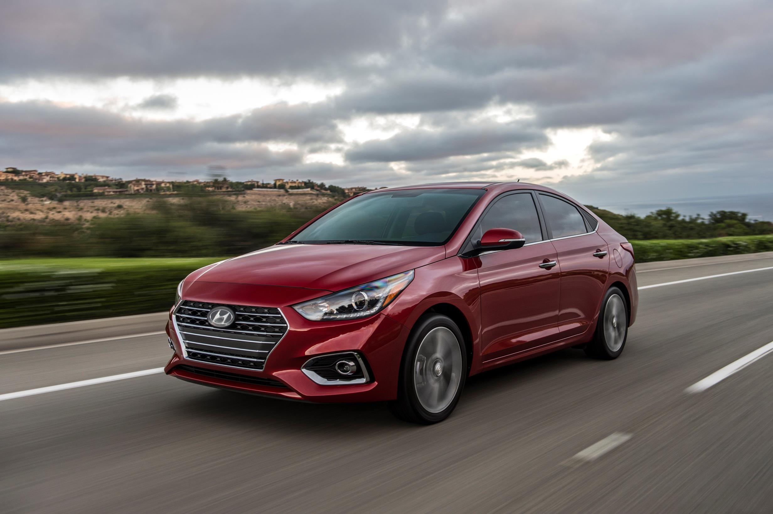 Hyundai Accent, one of Hyundai's top selling vehicles in calendar year 2017