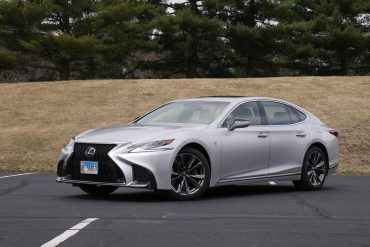2019 Lexus LS 500 F Sport front three-quarter view